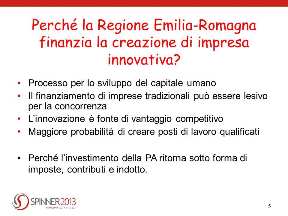 Perché la Regione Emilia-Romagna finanzia la creazione di impresa innovativa