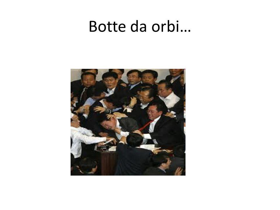 Botte da orbi… Ma l'iniziativa non è stata apprezzata.