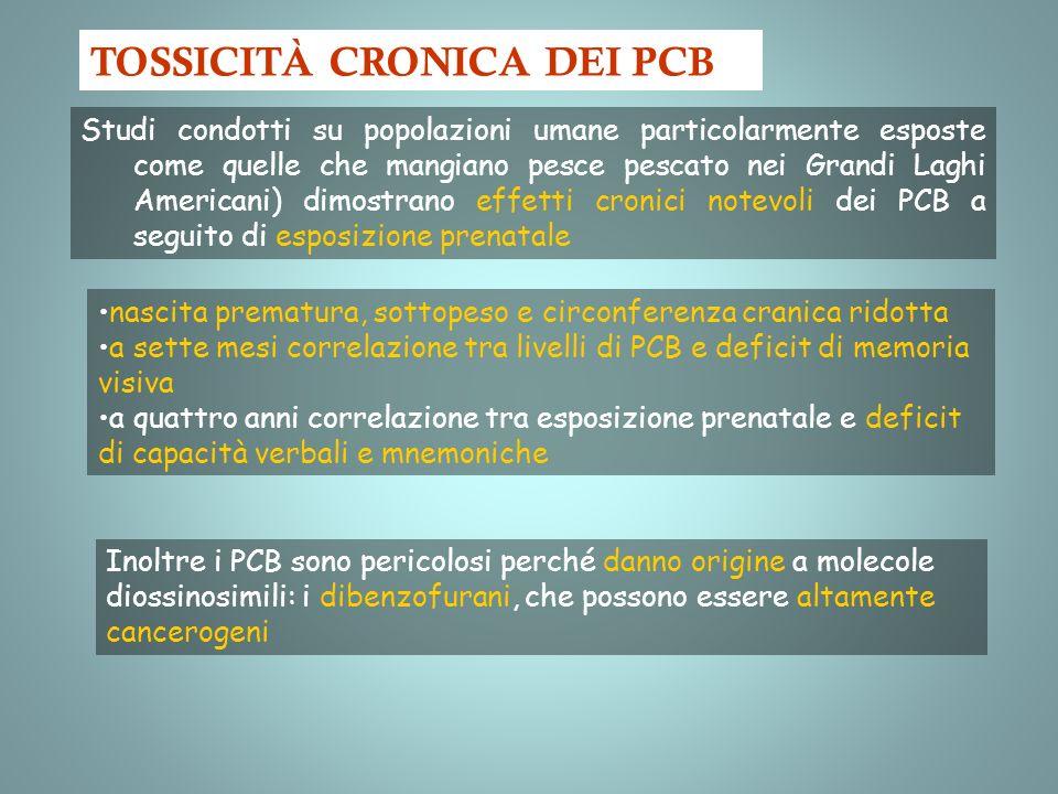 TOSSICITÀ CRONICA DEI PCB