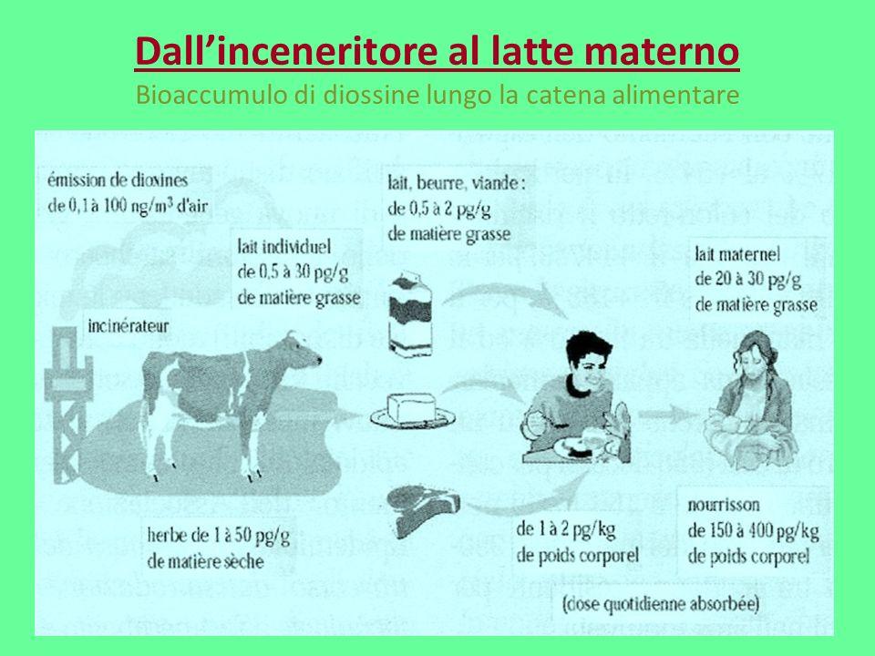 Dall'inceneritore al latte materno Bioaccumulo di diossine lungo la catena alimentare