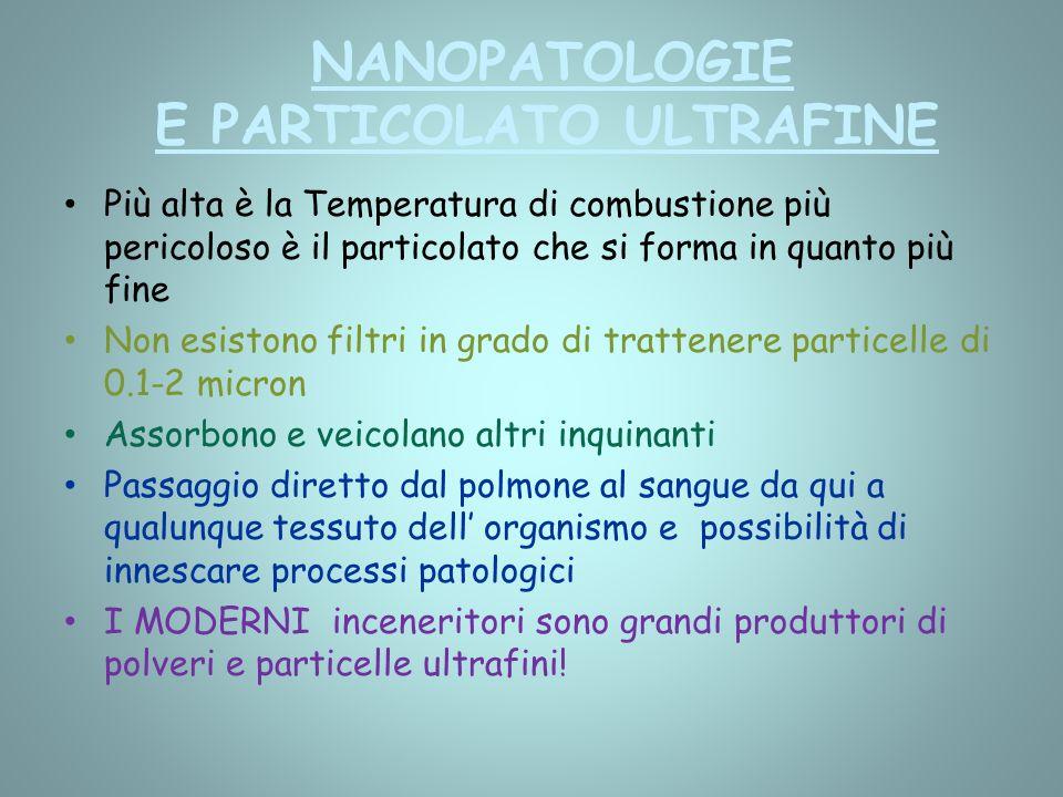 NANOPATOLOGIE E PARTICOLATO ULTRAFINE
