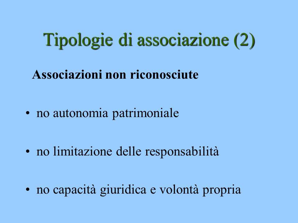 Tipologie di associazione (2)
