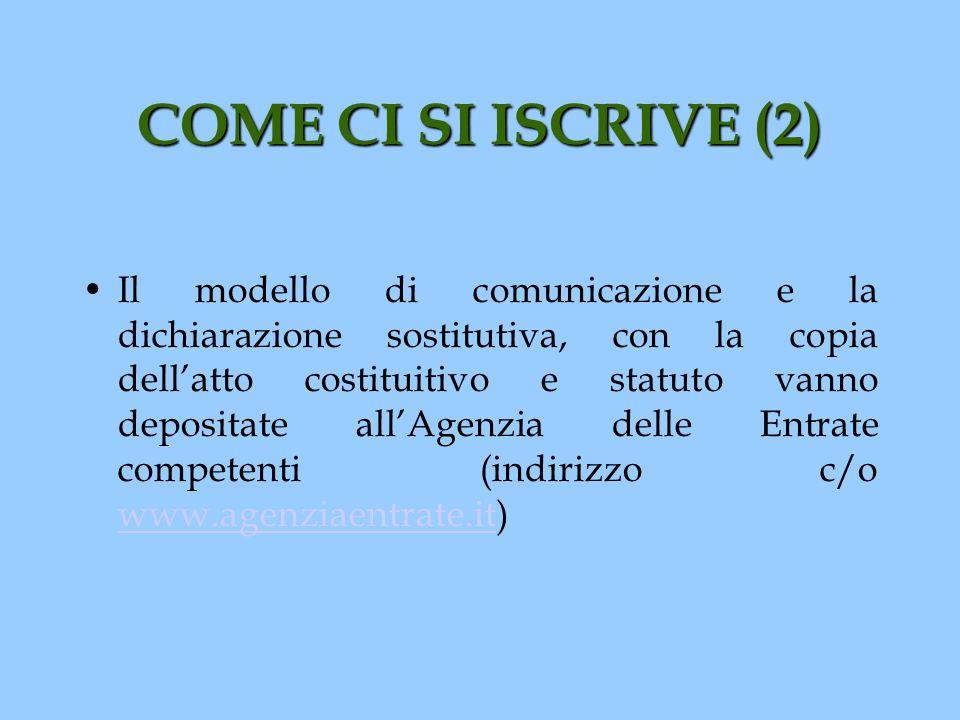 COME CI SI ISCRIVE (2)