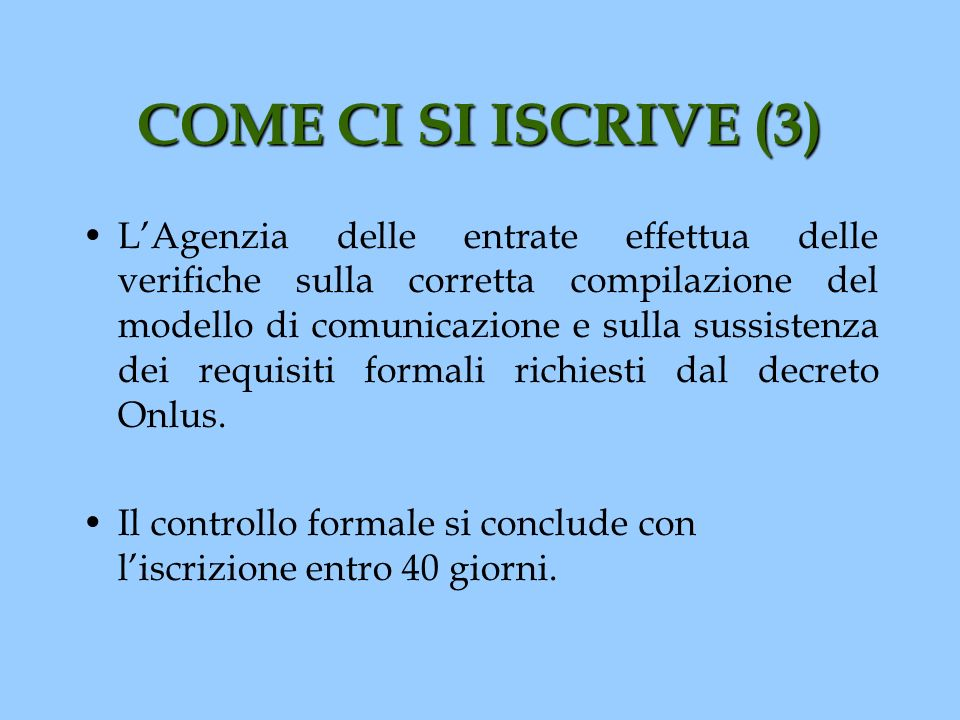 COME CI SI ISCRIVE (3)