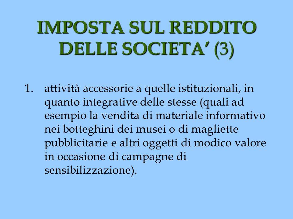IMPOSTA SUL REDDITO DELLE SOCIETA' (3)