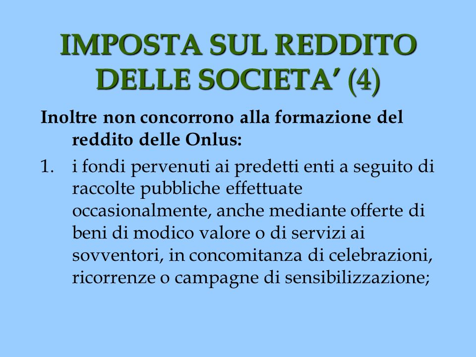 IMPOSTA SUL REDDITO DELLE SOCIETA' (4)