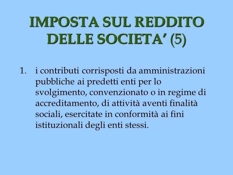 IMPOSTA SUL REDDITO DELLE SOCIETA' (5)