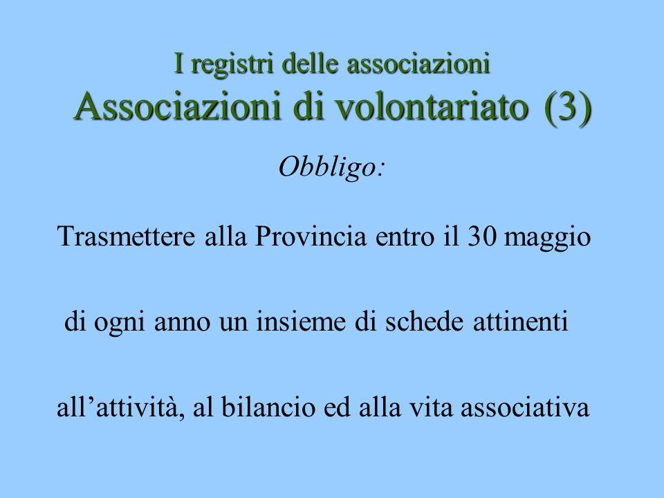 I registri delle associazioni Associazioni di volontariato (3)