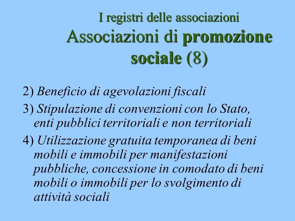 I registri delle associazioni Associazioni di promozione sociale (8)
