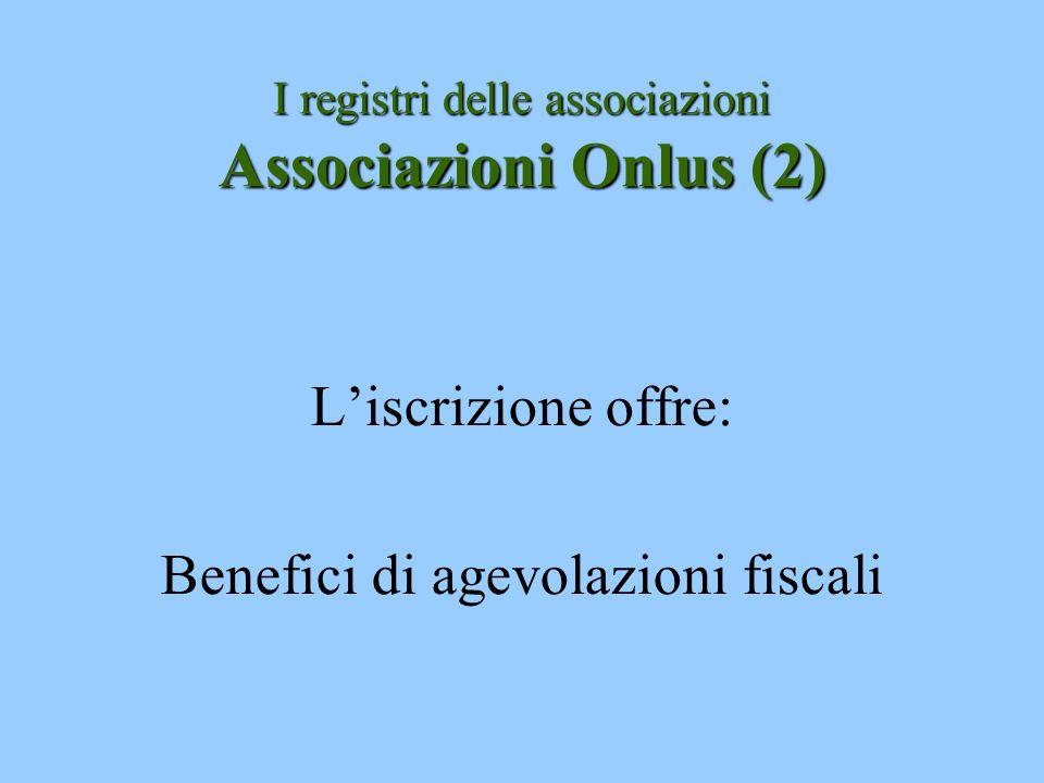I registri delle associazioni Associazioni Onlus (2)