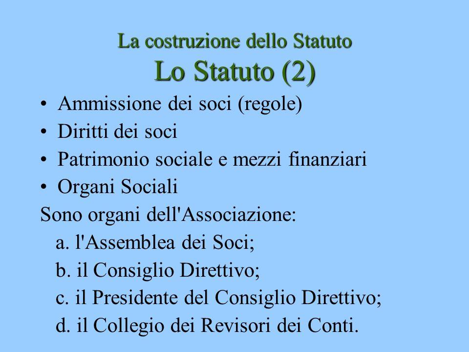 La costruzione dello Statuto Lo Statuto (2)