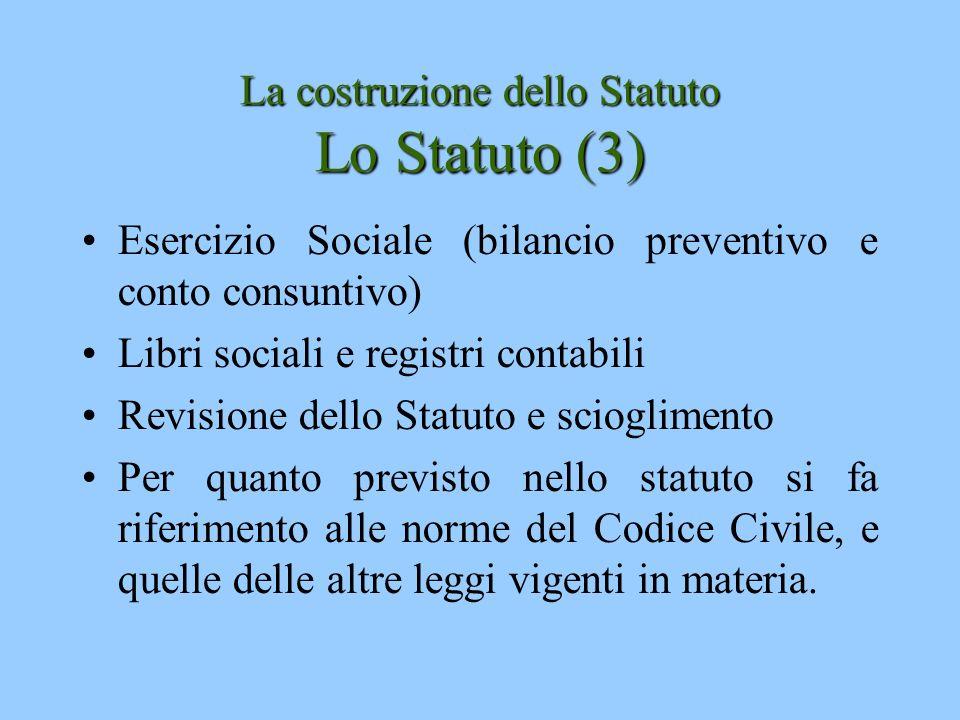 La costruzione dello Statuto Lo Statuto (3)