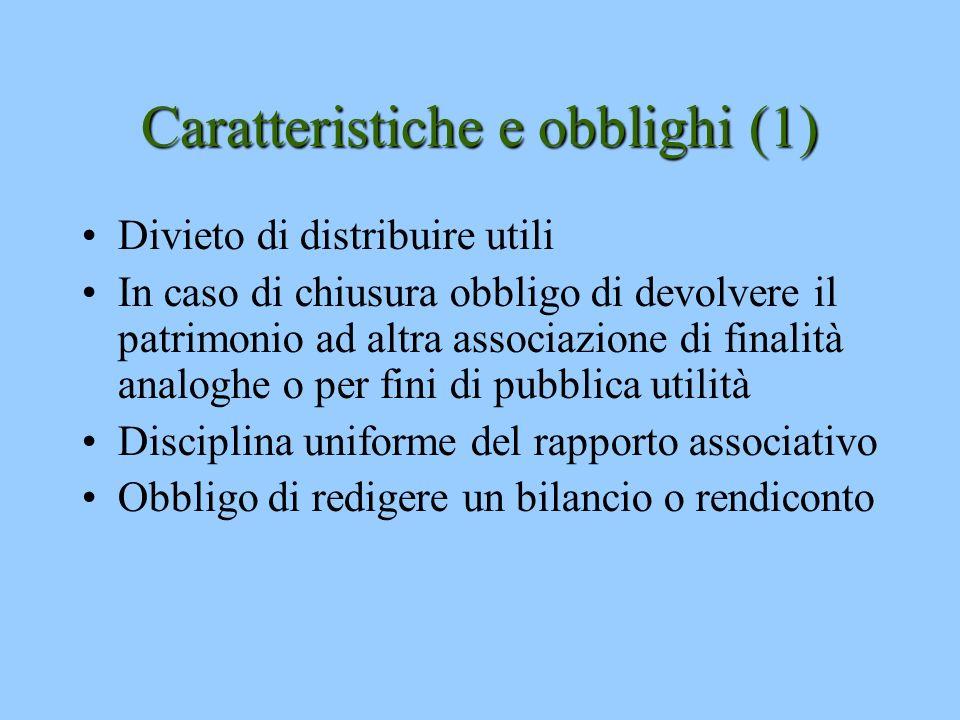 Caratteristiche e obblighi (1)