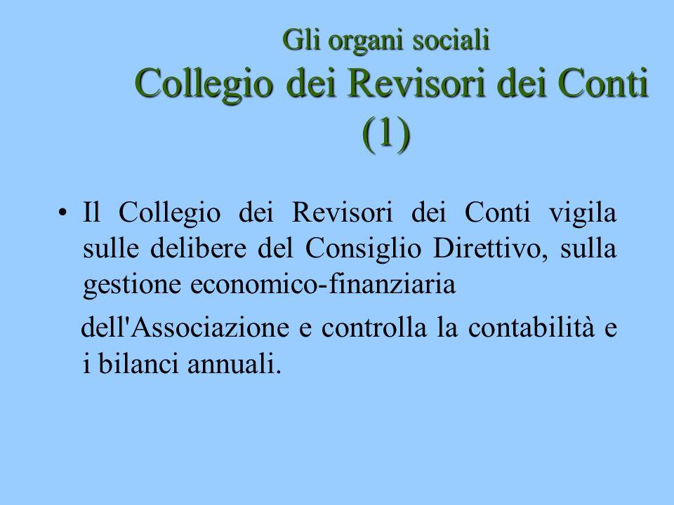 Gli organi sociali Collegio dei Revisori dei Conti (1)