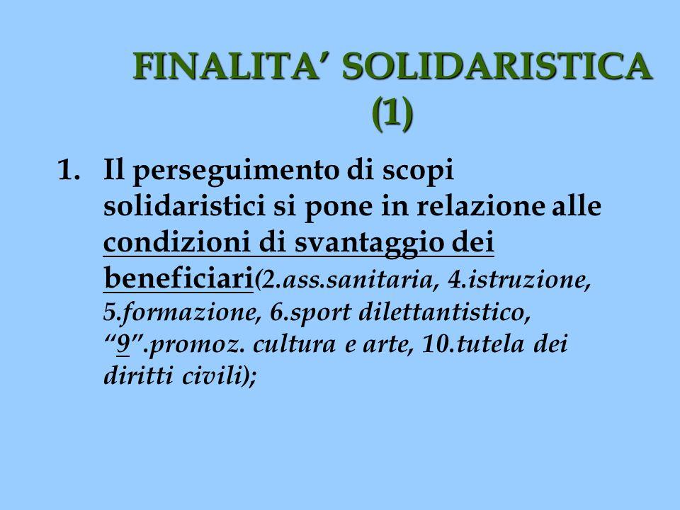 FINALITA' SOLIDARISTICA (1)