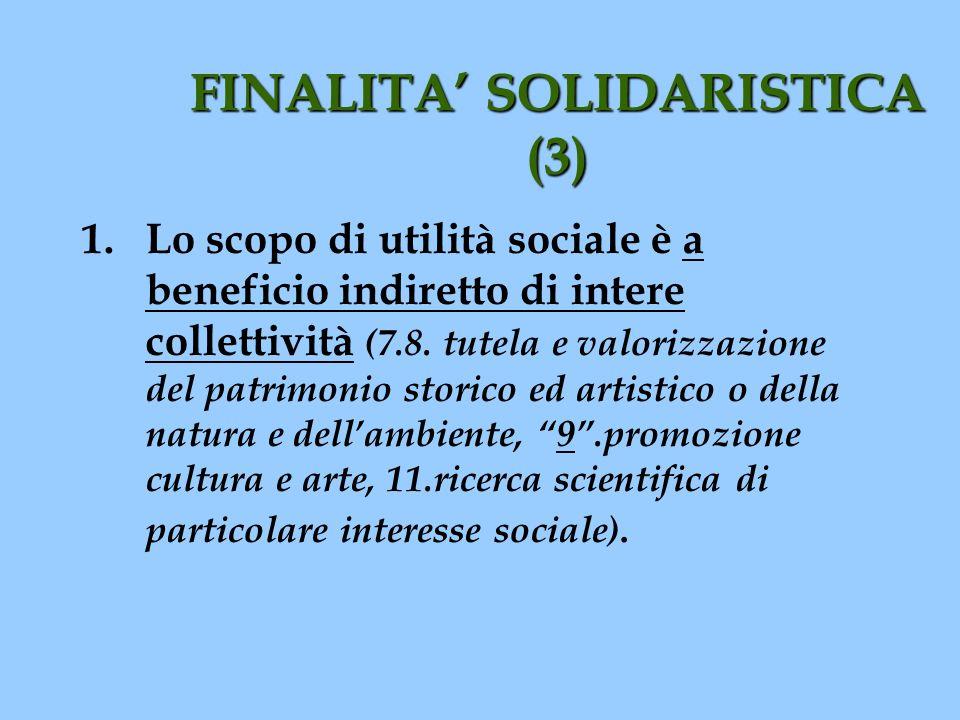 FINALITA' SOLIDARISTICA (3)