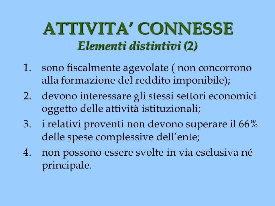 ATTIVITA' CONNESSE Elementi distintivi (2)