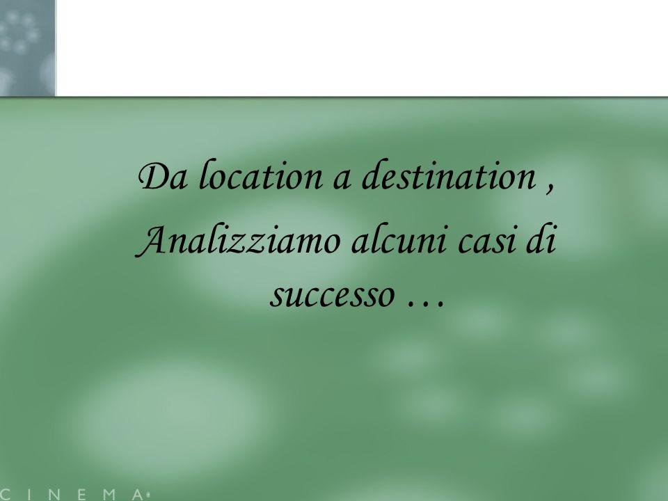 Da location a destination , Analizziamo alcuni casi di successo …