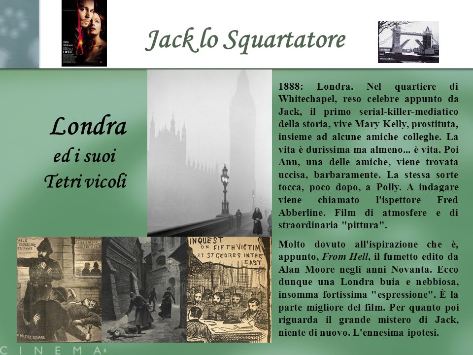 Jack lo Squartatore Londra ed i suoi Tetri vicoli