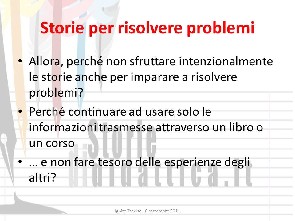 Storie per risolvere problemi
