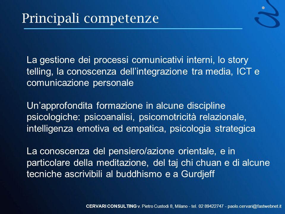 Principali competenze