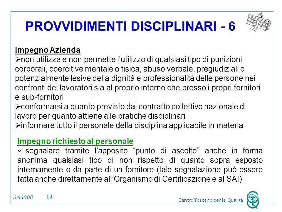 PROVVIDIMENTI DISCIPLINARI - 6