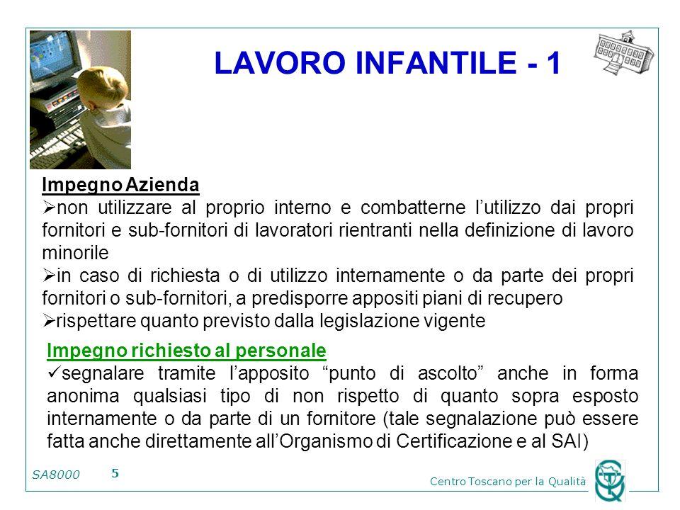 LAVORO INFANTILE - 1 Impegno Azienda