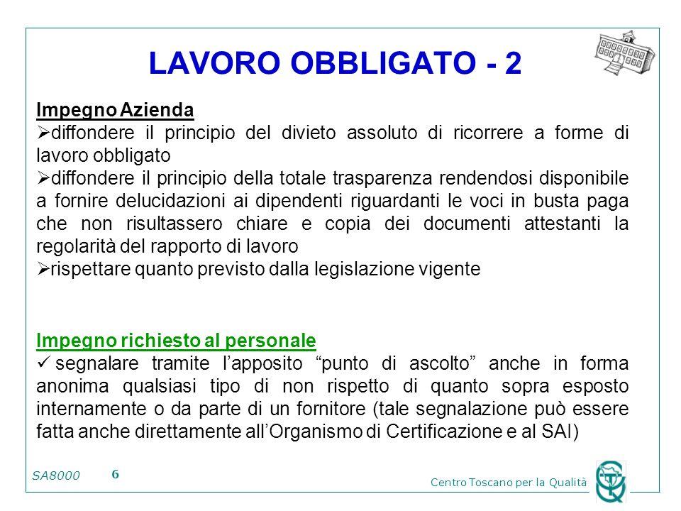 LAVORO OBBLIGATO - 2 Impegno Azienda