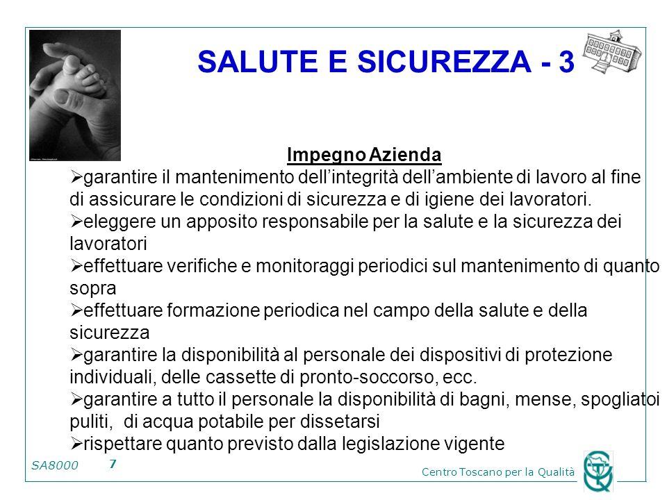 SALUTE E SICUREZZA - 3 Impegno Azienda