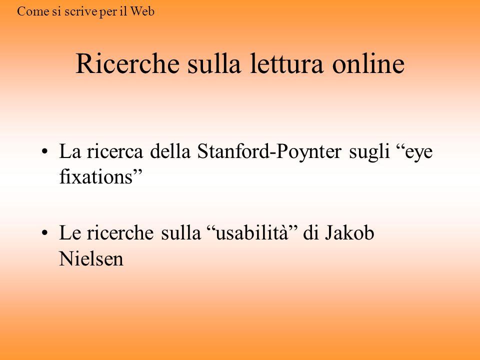 Ricerche sulla lettura online