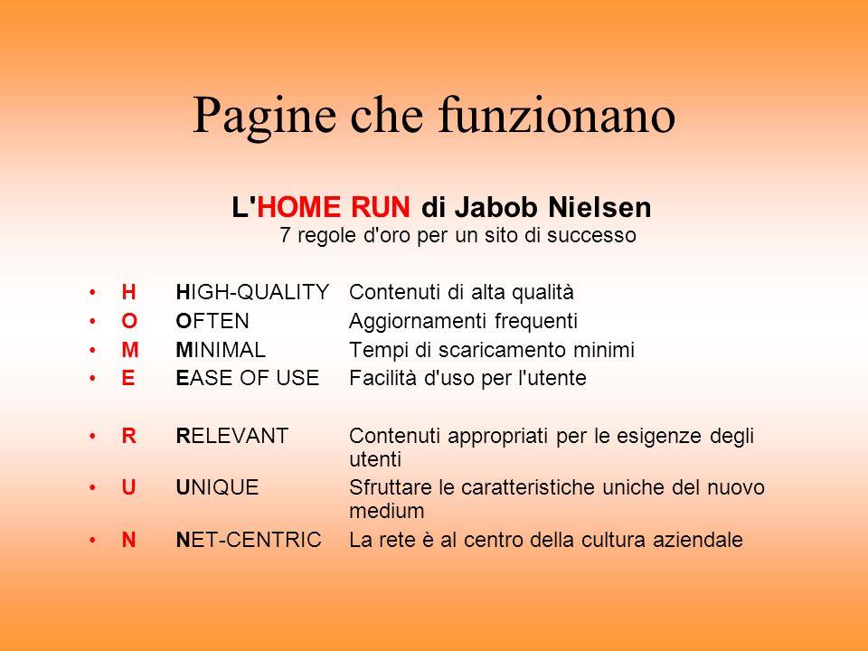 L HOME RUN di Jabob Nielsen 7 regole d oro per un sito di successo