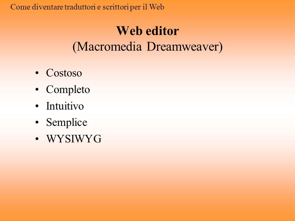 Web editor (Macromedia Dreamweaver)