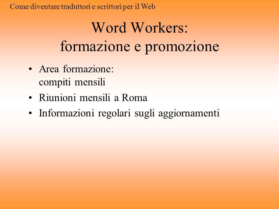 Word Workers: formazione e promozione