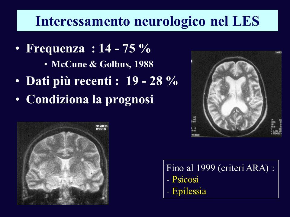 Interessamento neurologico nel LES
