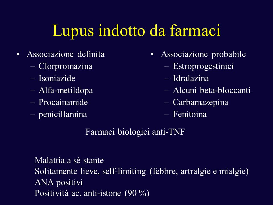 Lupus indotto da farmaci