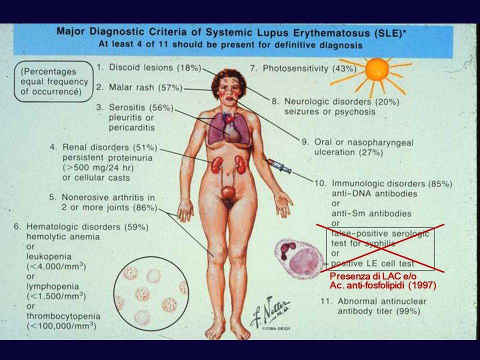Presenza di LAC e/o Ac. anti-fosfolipidi (1997)