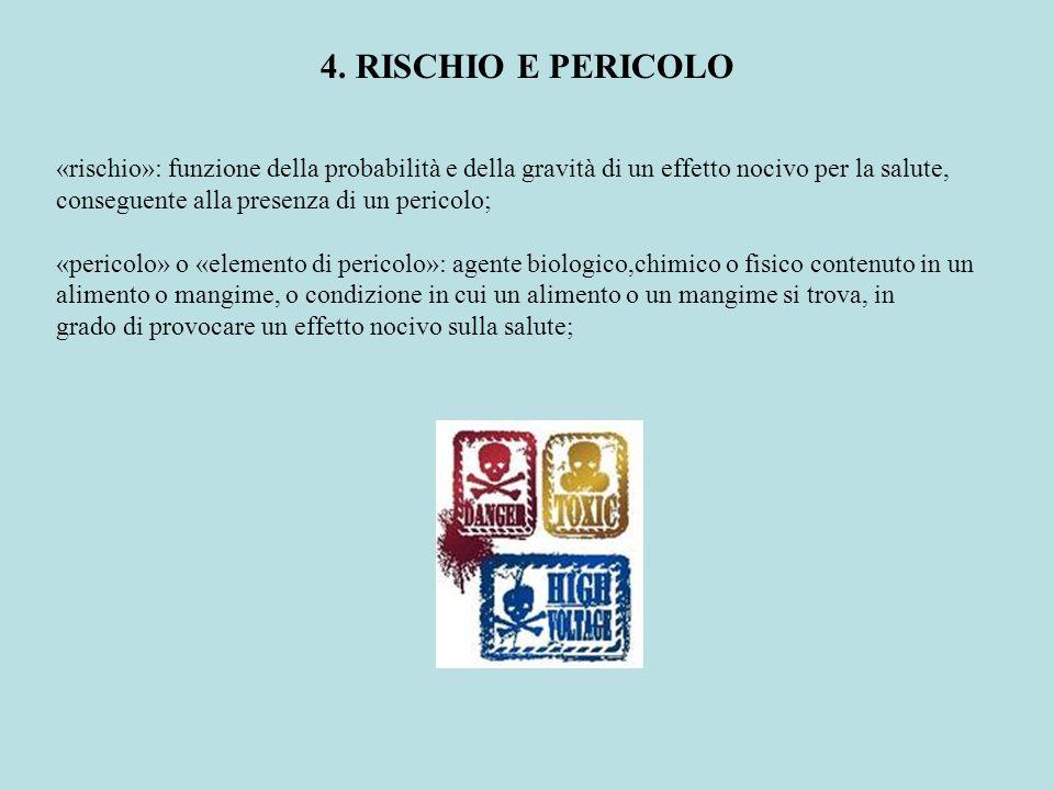 4. RISCHIO E PERICOLO