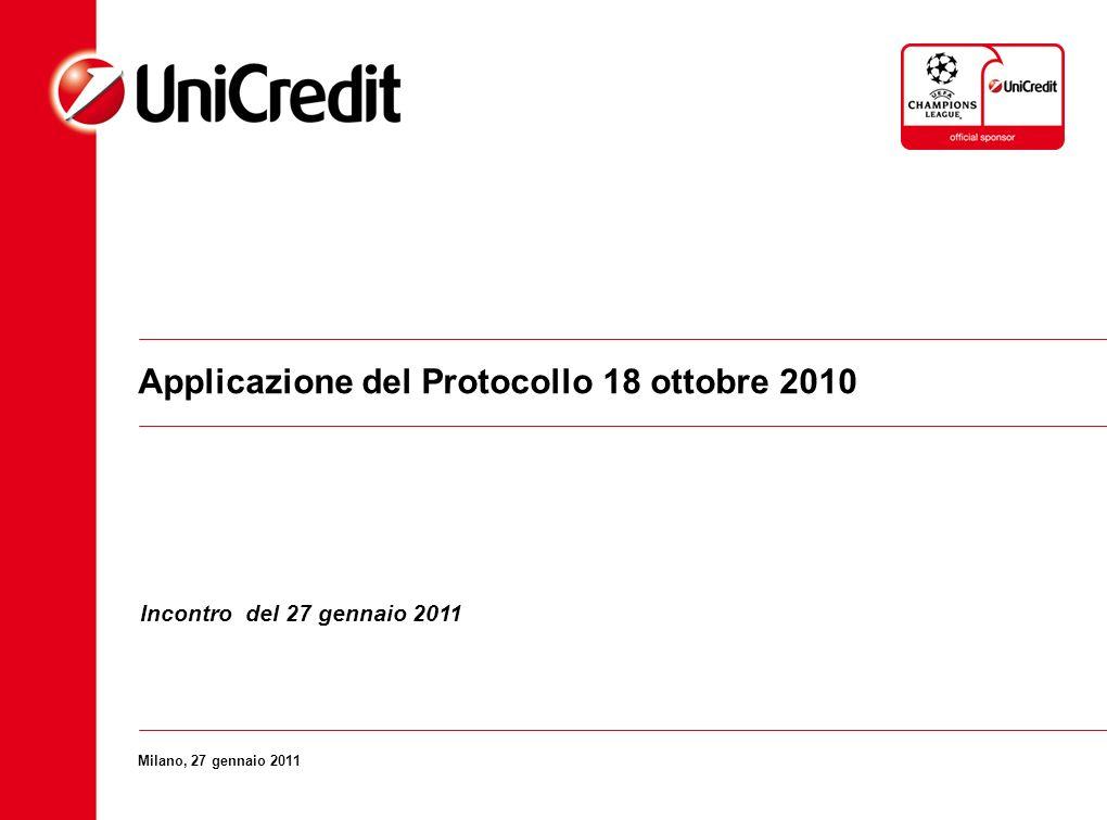 Applicazione del Protocollo 18 ottobre 2010
