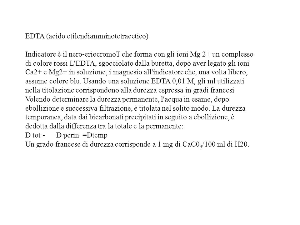 EDTA (acido etilendiamminotetracetico)