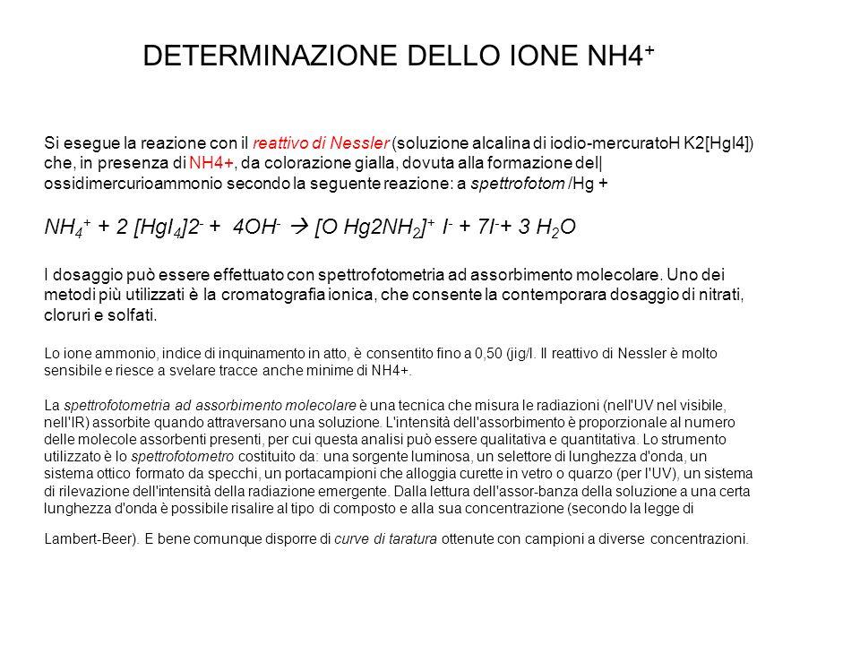 DETERMINAZIONE DELLO IONE NH4+