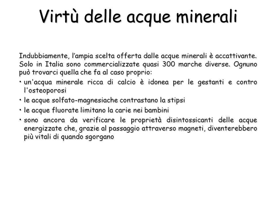 Virtù delle acque minerali