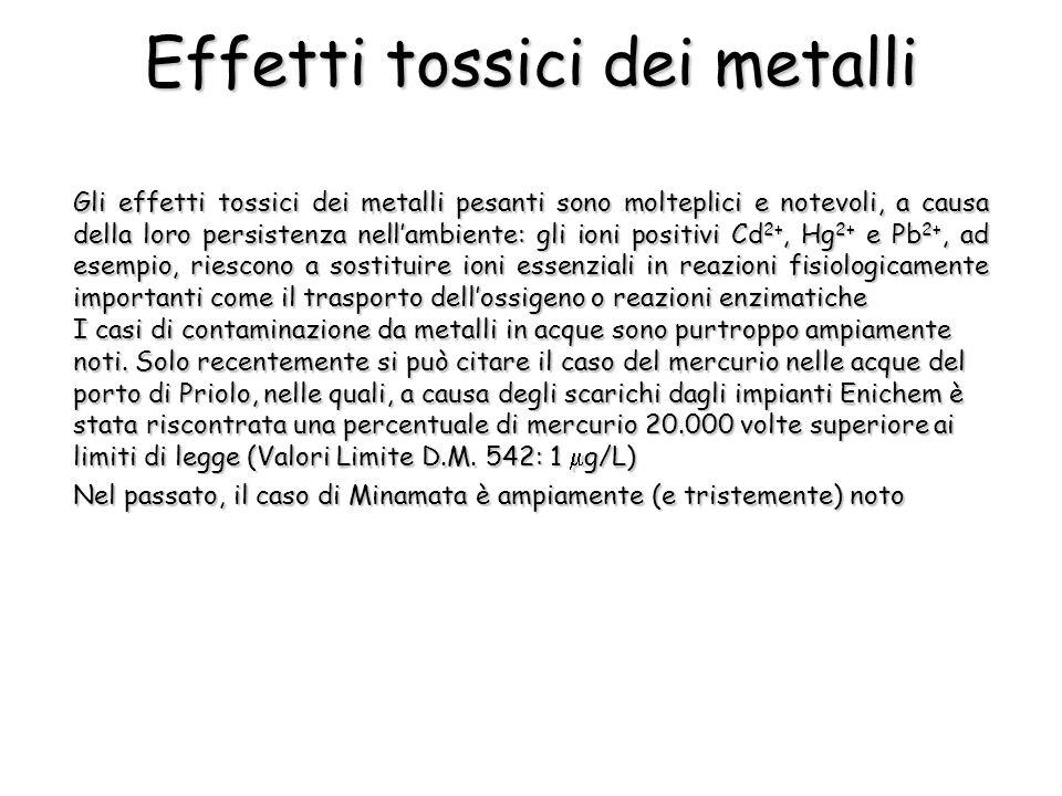 Effetti tossici dei metalli