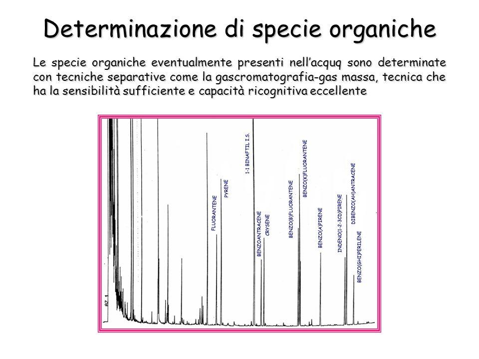Determinazione di specie organiche
