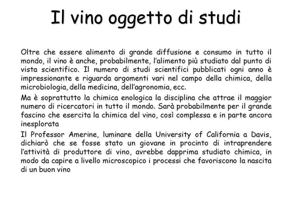 Il vino oggetto di studi