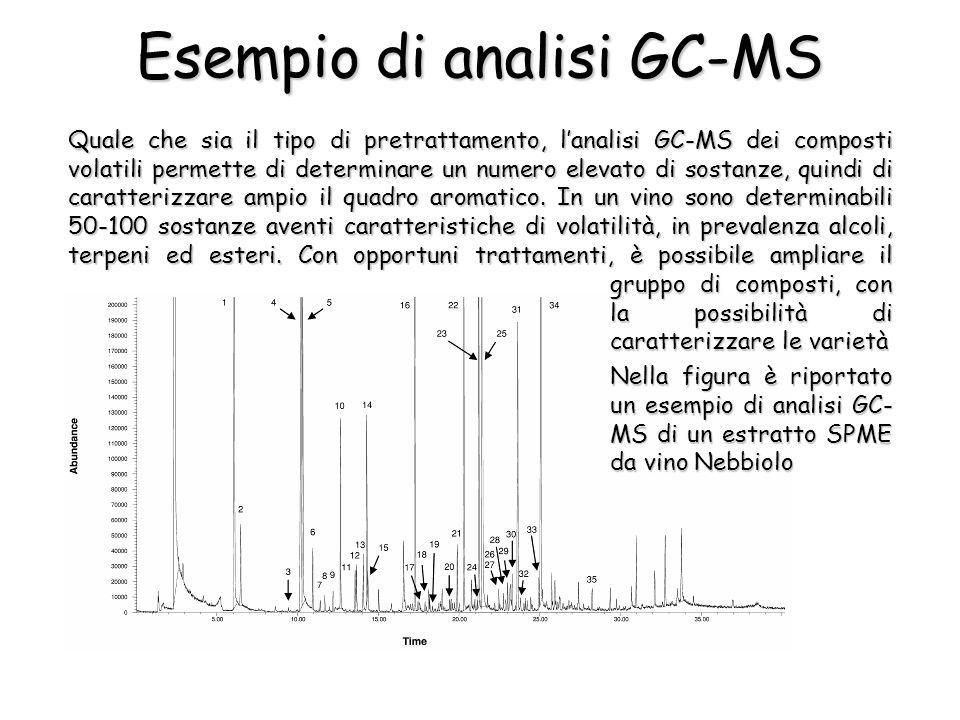 Esempio di analisi GC-MS