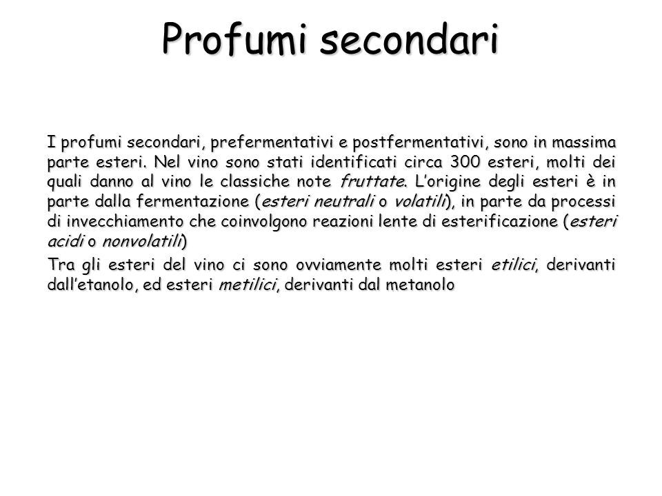 Profumi secondari