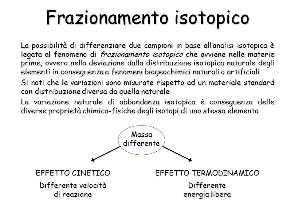 Frazionamento isotopico