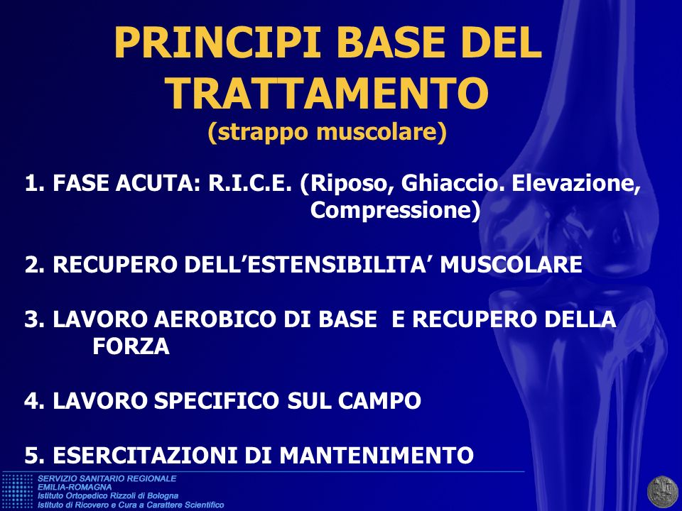 PRINCIPI BASE DEL TRATTAMENTO