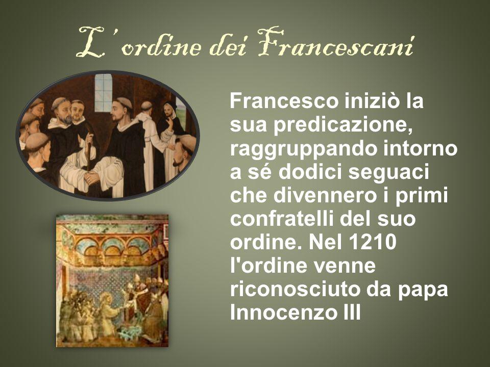 L' ordine dei Francescani