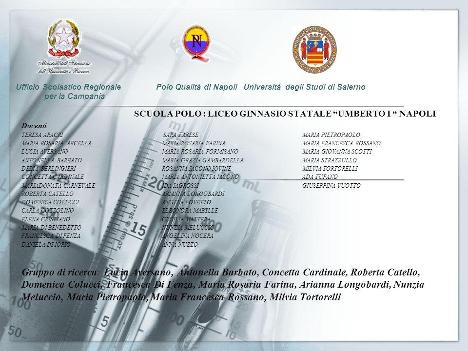 Ufficio Scolastico Regionale Polo Qualità di Napoli Università degli Studi di Salerno